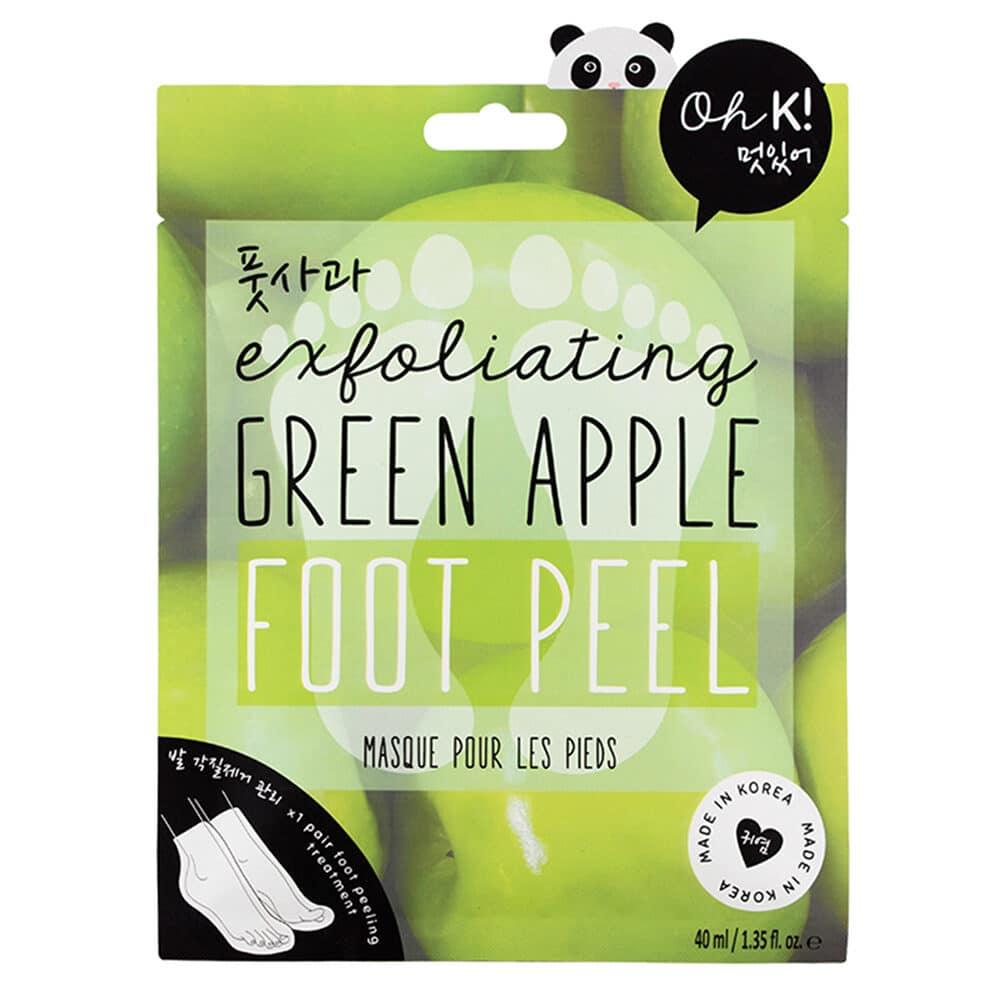 Oh K! Exfoliating Green Apple Foot Peel Mask