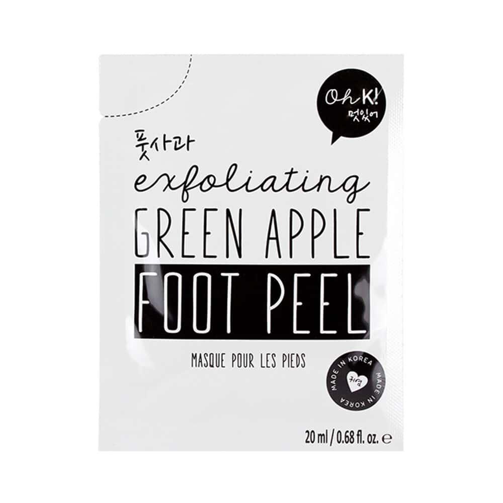 Oh K! Exfoliating Green Apple Foot Peel Mask 2