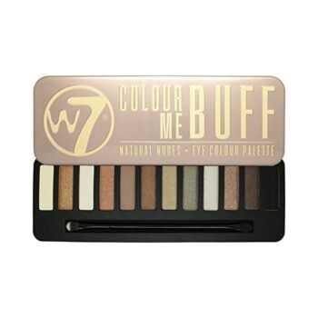 W7 Cosmetics Colour Me Buff Eyeshadow Palette Inside and Lid