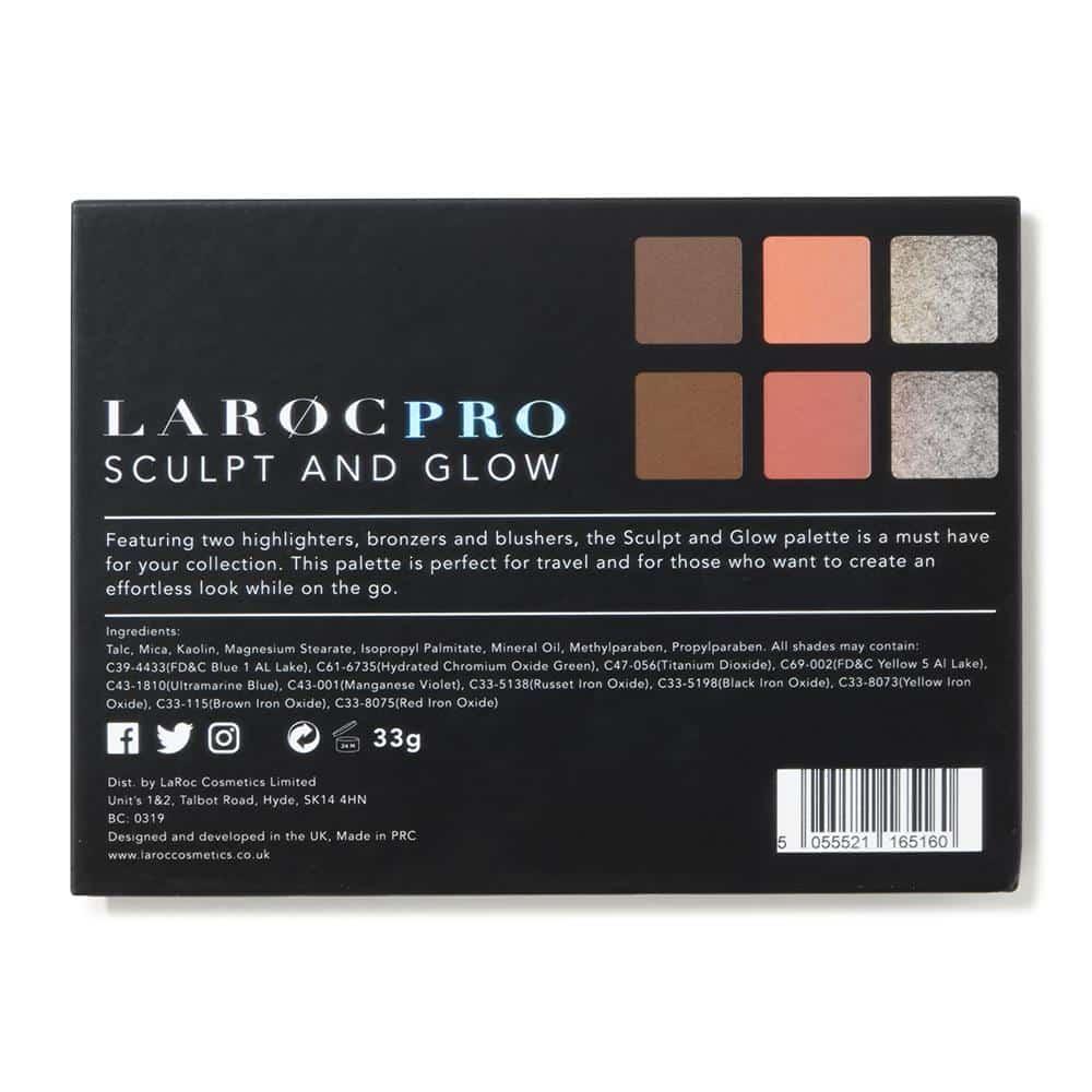 LaRoc Pro 6 Colour Contour Palette - Sculpt and Glow 3