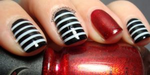 Halloween Nails - Beetlejuice