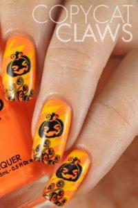 Halloween Nails - Pumpkins