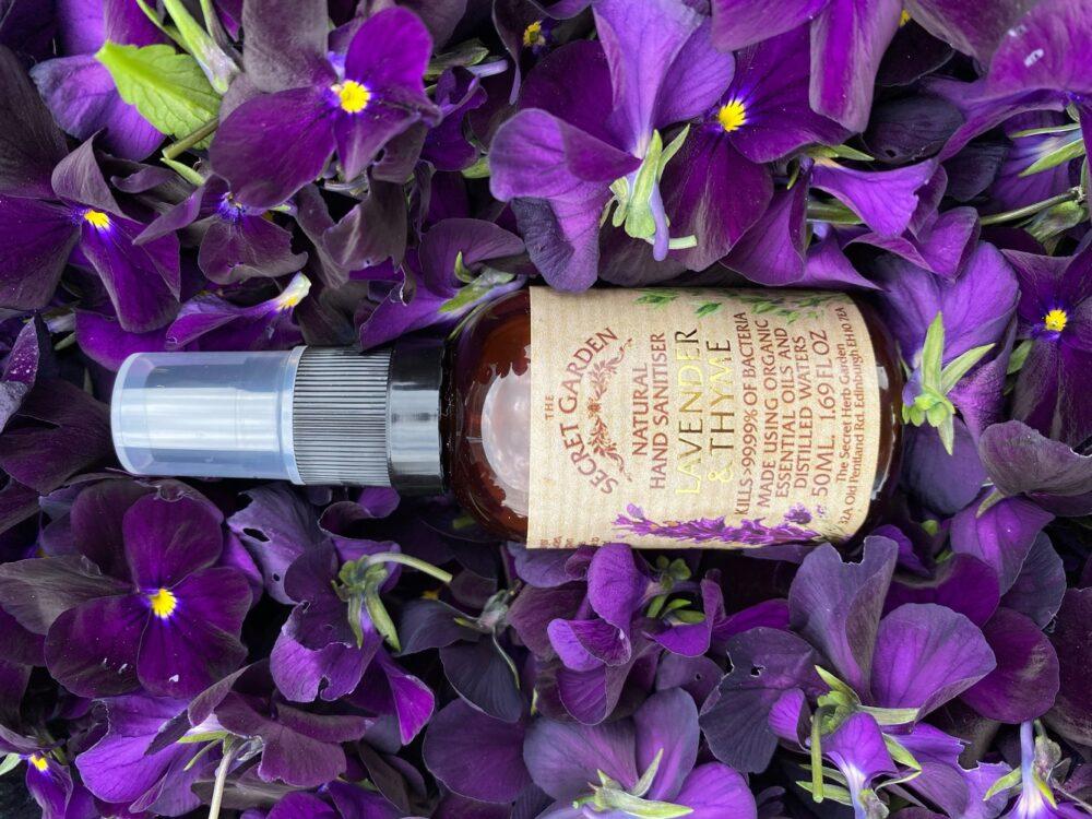 The Secret Garden Lavender & Thyme Hand Sanitiser 50ml 1