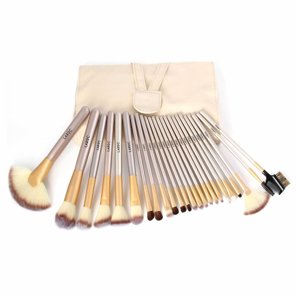 LaRoc 24 Piece Makeup Brush Set - Champagne 2