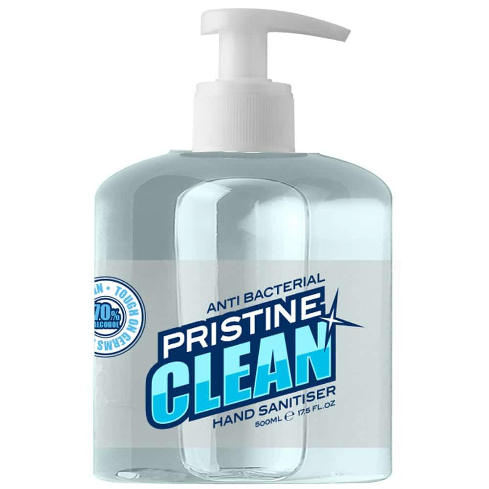 Pristine Clean 70% Alcohol Hand Sanitiser Gel 500ml