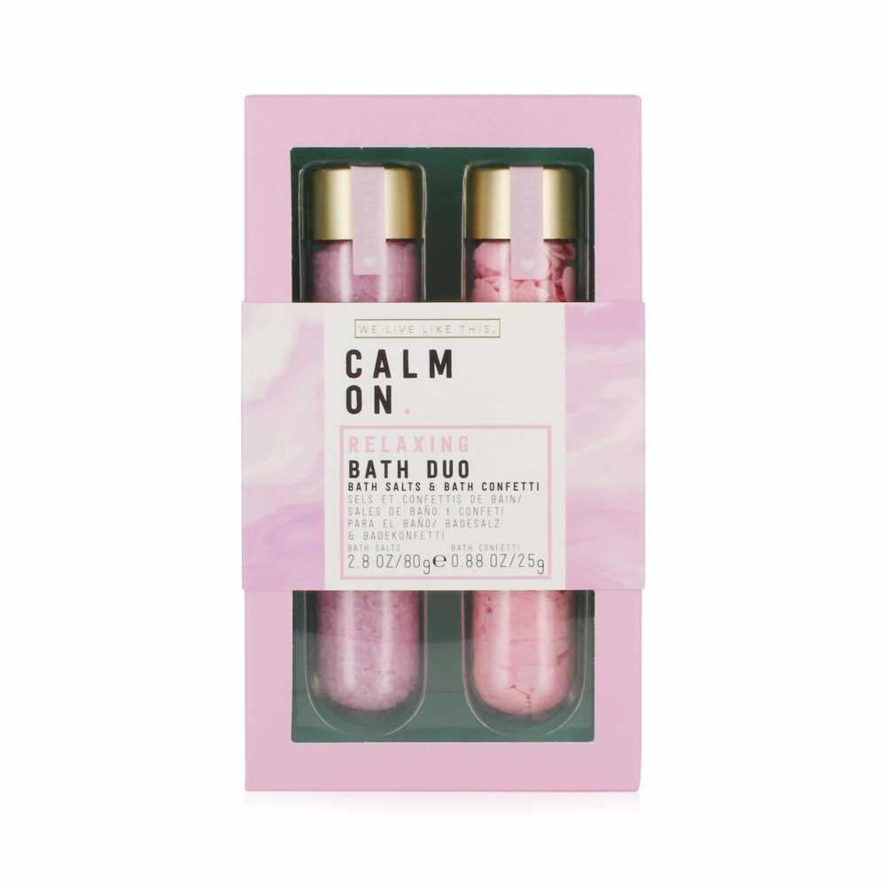 We Live Like This. Calm On Bath Salts & Confetti Duo