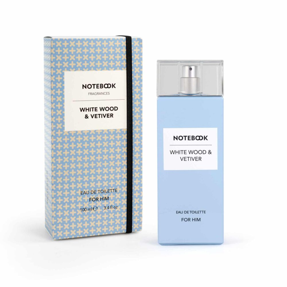 Notebook White Wood & Vetiver for Him Eau de Toilette Spray 100ml