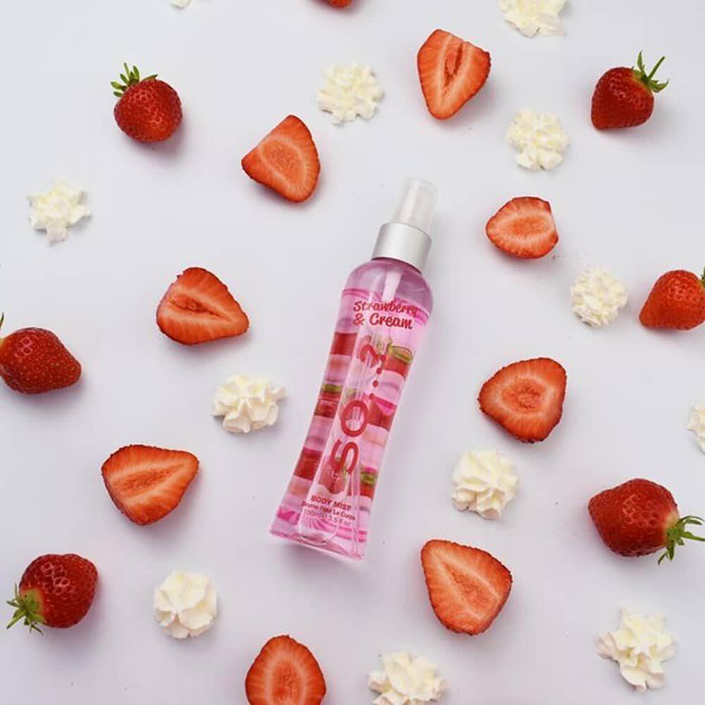 So Strawberry & Cream Body Mist 100ml 1