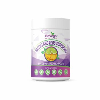 BeVego Red & Green Superfood Powder 300g - Lime & Mango Flavour
