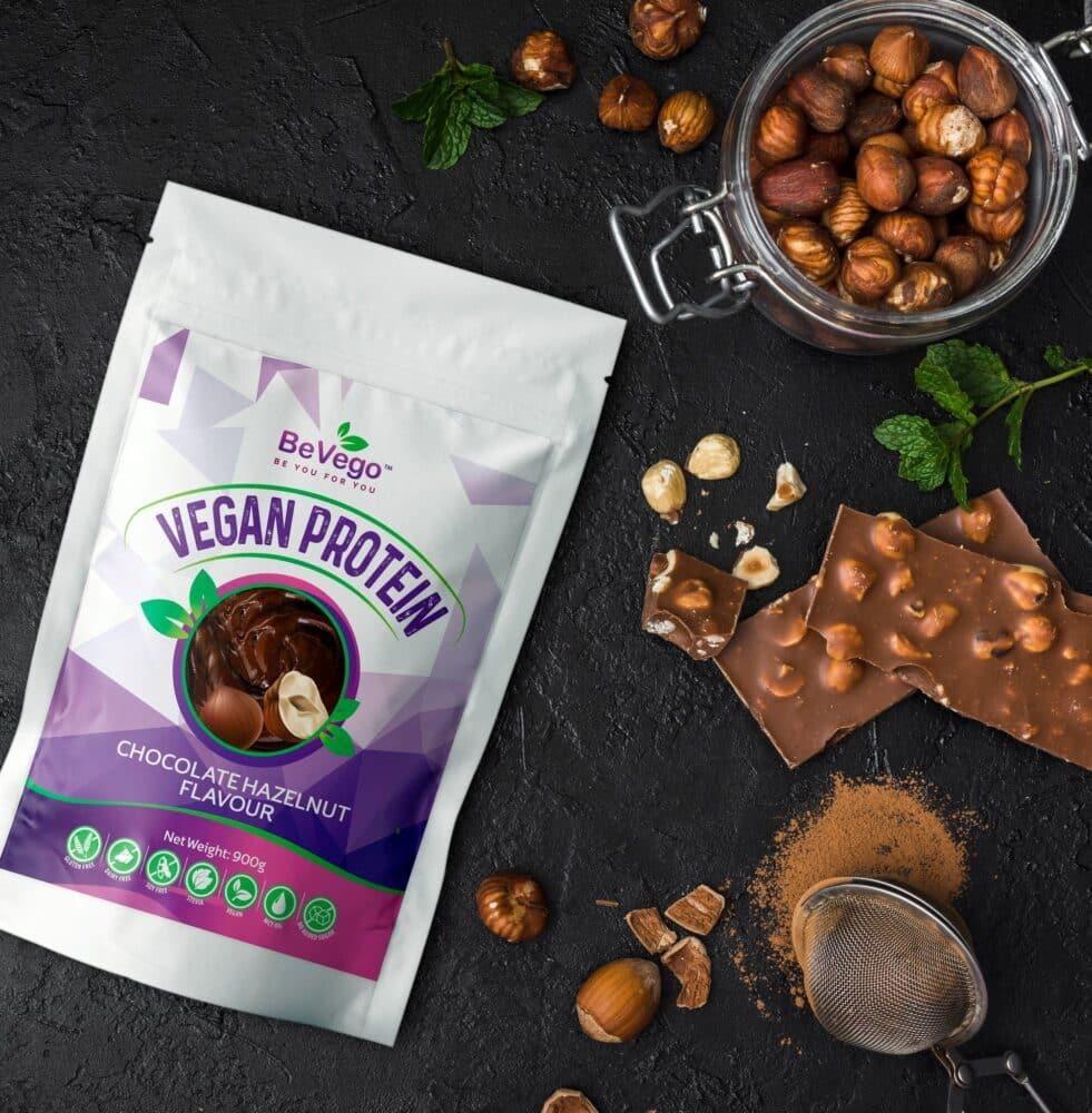 BeVego Vegan Protein Powder 900g - Chocolate Hazlenut Flavour 3