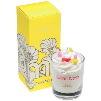 Bomb Cosmetics Loco Coco Piped Glass Candle