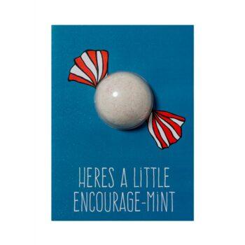Bomb Cosmetics Encourage-Mint Bath Blaster Card