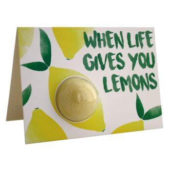 Bomb Cosmetics When Life Gives You Lemons Bath Blaster Card