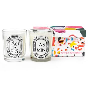 Diptyque Roses & Jasmine Candle Duo - Pierre Frey Edition